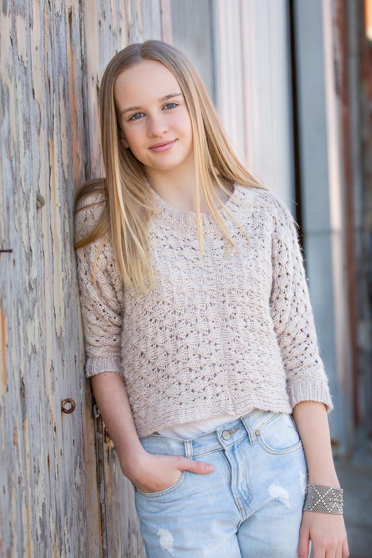 Young Pre Teen Girl Female Woman Torso Vertical Format: Tween Photography Geelong